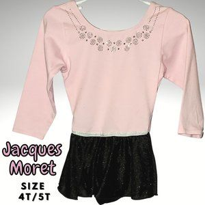 Girls Pink and Black Dance Leotard Size 4-5